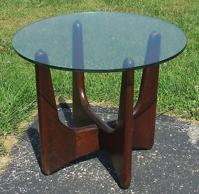 1960s Adrian Pearsall Mid-Century Modern Glass-Top End Table - Open To Offers!