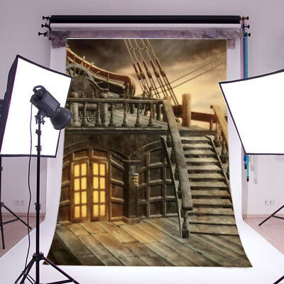 5x7Ft Pirate Ship Photography Backdrops Vinyl Child Party Photo Studio Props US