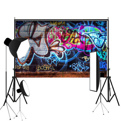 7x5ft Colorful Photo Backdrops Vinyl Graffiti Brick Wall Photography Background