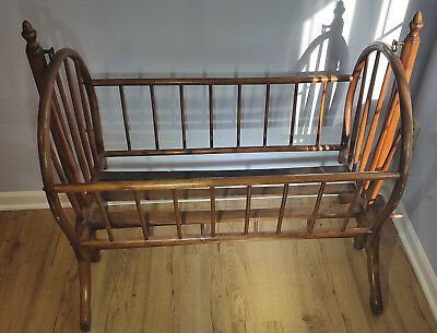 Victorn antique baby rocking crib -wooden, handmade, 150+ yrs old- FREE Shipping