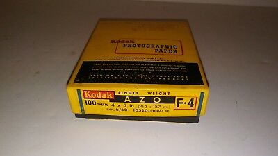 Kodak Photographic Paper Azo F~4 SINGLE WEIGHT  4  X 5  100 Ct
