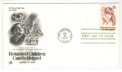 Fmra Retarded Children Can Be Helped 1974 Fdc Cover 849