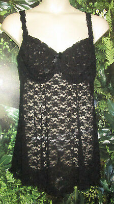 Torrid sheer black lace teddy sz 3 underwire