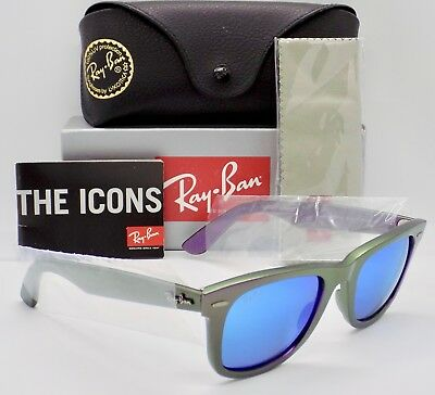 Ray Ban Cosmo Saturn Flash Lens Wayfarer RB2140 6112/17   & Case