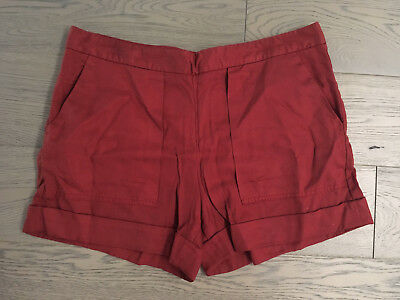 New Ladies Zara Rust Coloured High Waisted Shorts - Size Large or 12
