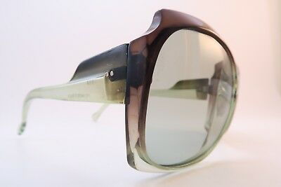Vintage 70s clear green graduated sunglasses original glass lens made in France