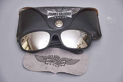 Authentic Vintage Johnny Hallyday Mirrored Wraparound Sunglasses Memorabilia NOS