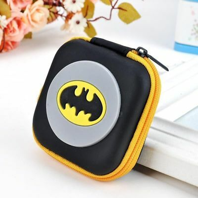 Batman Yellow Cartoon Kids Boys Girls Rubber Coin Purse Wallet Headset Bag Gift