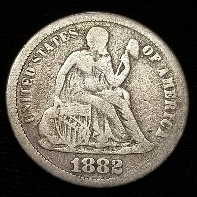 1882 Seated Liberty dime..Circulated..See pictures!!