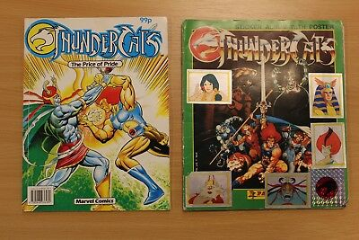 Thundercats, Sticker Book And Special Issue Comic.  1980's..