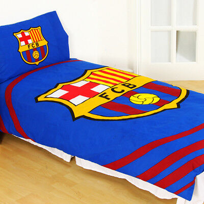 FC Barcelona Single Duvet Set Reversible FCB Fun Pulse Fan Gift Official Product