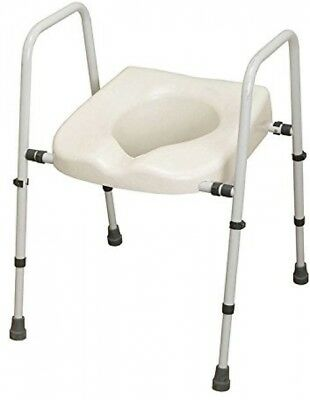 NRS M66613 Mowbray Toilet Seat And Frame Lite - Width Adjustable - FLAT PACK In