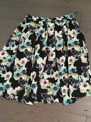 Brand New Ladies Wolf & Whistle Pleated Floral Summer Skirt - Size 12