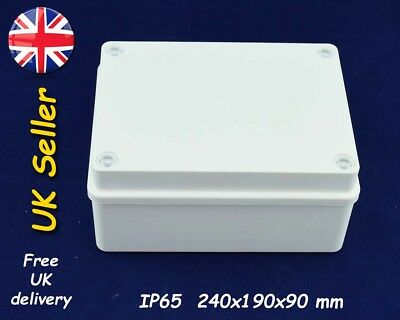 PVC Junction box / weatherproof adaptable enclosure 240x190x90 mm IP65 White