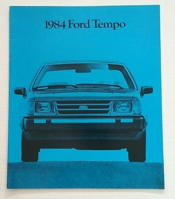 Vintage 1984 Ford Tempo 20 Page Car Auto Sales Brochure Free Shipping