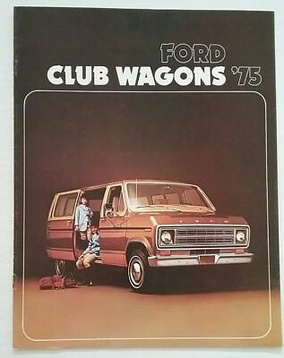 Vintage 1975 Ford Club Wagons 8 Page Car Auto Sales Brochure Free Shipping