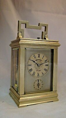 Fully Restored Silvered Bell Repeater BREGUET, No.3432 Carriage Clock, c1870
