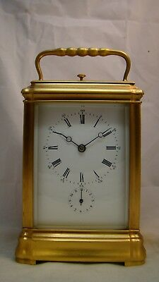 Fully Restored Petite Sonnerie Carriage Clock by Roblin, Paris, No.27133