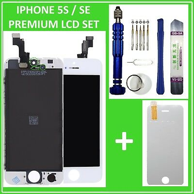 LCD DISPLAY für iPhone 5S / SE RETINA EINHEIT Touch Screen Front Weiß White Neu