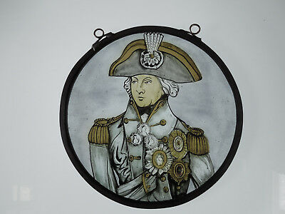 Interesting Stained Lord Horatio Nelson Navy Victorian Decorative Interior