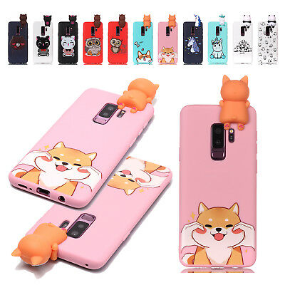 For Samsung S8/S9/S9 Plus 3D Cute Animal Soft Silicone TPU Protective Case Cover