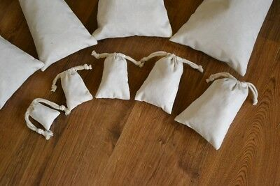 """5""""x7"""" Cotton Double Drawstring Muslin Bags (Natural Color)"""
