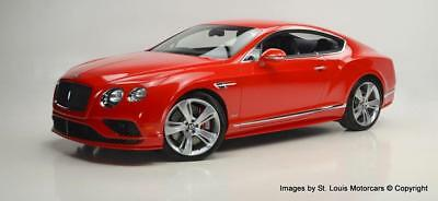 Continental GT W12 Speed 2016 Bentley Continental GT Speed St. James Red 6,933 Miles Stunning Ex-Show Car