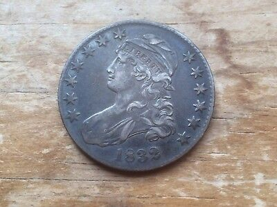 1832 Capped Bust Half Dollar  @@ must see @@@ lot 572