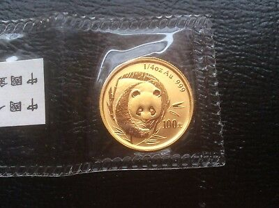 China 2003 Gold 1/4 oz Panda 100 Yuan Original Mint Sealed BU