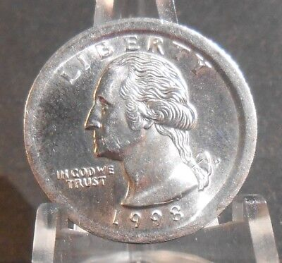 1998-P Washington Quarter Struck Out Of Collar Please Look