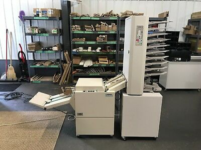 Plockmatic BM61 Bookletmaker w/ 310 Collator (10 Bin) - Fully Serviced & Tested