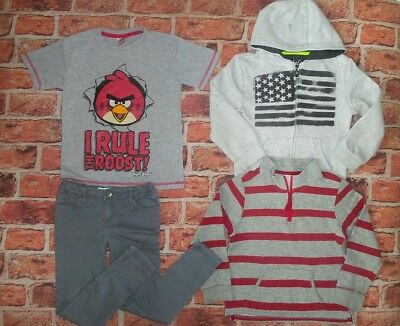 6 7 Years M&s Angry Birds Skinny Chinos Tops Hoodie Jumper Boys Clothes Bundle