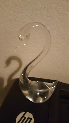 Clear Glass Swan Figurines Home Decor