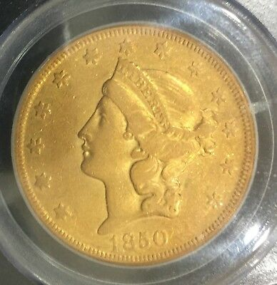 1850-O $20 Gold Coin PCGS XF40  first year of issue - only 141,000 minted