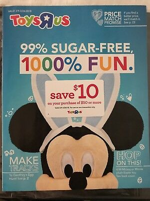 TOYS R US 2018 Spring Toy Catalog - LAST ONE - with Coupon - MINT!!!!!