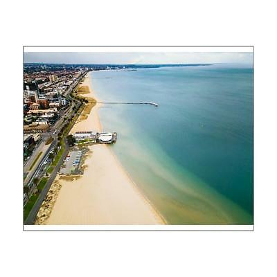 """14416063 10""""x8"""" (25x20cm) Print Aerial view of Port Melbourne and..."""