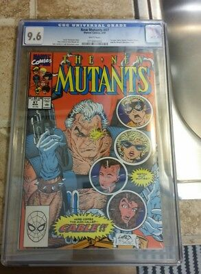 The New Mutants 87 Cgc 9.6 1st Appearance on Cable Cracked Case