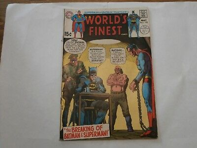 *AR* DC World's Finest Comics #193 May 1970 The Breaking of Batman and Superman!