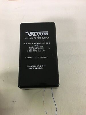 Valcom VP-1024 Specifications:Cable Not Included 120VAC 60Hz OUTPUT: 24VDC