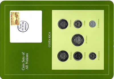 Coin Sets of All Nations Costa Rica 1983-1984 UNC 20,10,5,2 Colones 1983