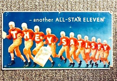 "Vintage Chesterfield Cigarettes ""Another All-Star Eleven"" Football Themed Sign"