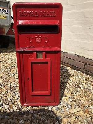 Genuine Royal Mail ER full Cast Iron Post Box Red Mail