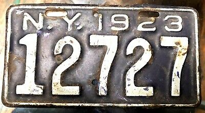 1923 New York Antique Motorcycle License Plate Ny Vintage 12727