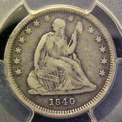 1840-O With Drapery 25c Seated Liberty Quarter PCGS VF20 only 43,000 minted