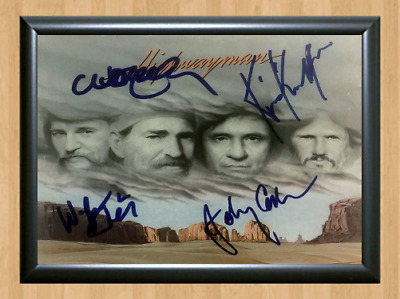 The Highwaymen Johnny Cash Signed Autographed A4 Photo Print Poster Memorabilia