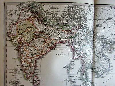 East indies India Southeast Asia Philippines Malaysia 1860 Stulpnagel old map