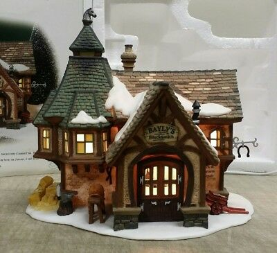 Department 56 Bayly's Blacksmith #56.58495 Lighted House, Dickens Village Series