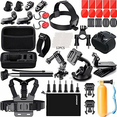 Zookki Accessories Kit for GoPro 6 Hero 5 Session 4 Silver 3 Black SJ4000/SJ5...