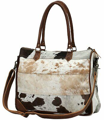 Myra Bag Genuine Leather with Animal Print Laptop Bag S-0728