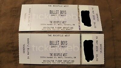 Bulletboys & Enuff Z'Nuff tickets! Toronto! MAy 24 @ The Rockpile!